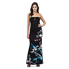 Lipsy - Black floral print maxi dress