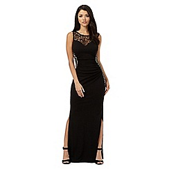 Lipsy - Michelle Keegan loves Lipsy black glitter lace detail maxi dress