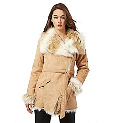 Lipsy - Michelle Keegan loves Lipsy natural suedette faux fur jacket
