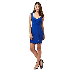 Lipsy - Blue cross front dress