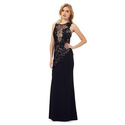 Lipsy Navy fishtail lace dress - . -