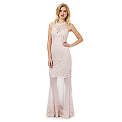Lipsy - Cream lace maxi dress