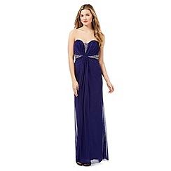 Lipsy - Blue strapless embellished maxi dress