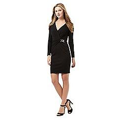 Lipsy - Black waist clasp wrap dress