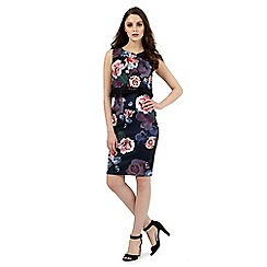 Lipsy - Navy rose print layered dress