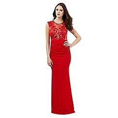 Lipsy - Michelle Keegan loves Lipsy red ruched maxi dress
