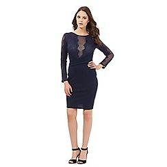 Lipsy - Blue floral lace dress