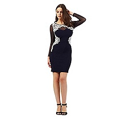 Lipsy - Michelle Keegan loves Lipsy navy lace applique dress