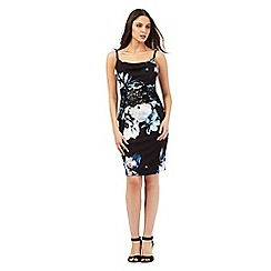 Lipsy - Black floral print dress