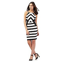 Lipsy - Michelle Keegan loves Lipsy black striped print dress