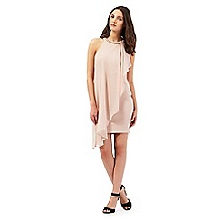 Lipsy - Beige chain neck dress