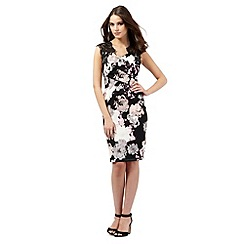 Lipsy - Black floral print lace dress