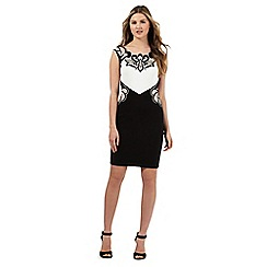Lipsy - Black fleur de lis bodycon dress