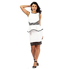 Lipsy - White stripe trim sleeveless dress