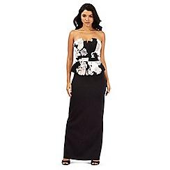 Lipsy - Black floral print maxi dress