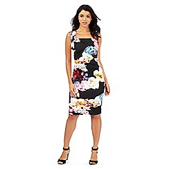 Lipsy - Black floral print wrapped dress