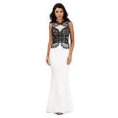 Lipsy - White lace detail maxi dress