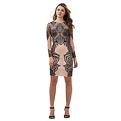 Lipsy - Black lace print dress