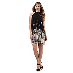 Lipsy - Black graduated floral print dress