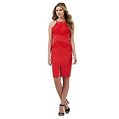 Lipsy - Red lace detail dress