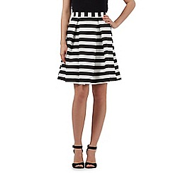 Lipsy - Ariana Grande for Lipsy black and white striped print skirt