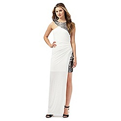 Lipsy - Ariana Grande for Lipsy white embellished maxi dress
