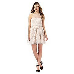 Lipsy - Ariana Grande for Lipsy light pink floral embroidered dress