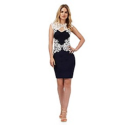 Lipsy - Navy floral lace dress