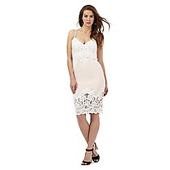 Lipsy - Pale pink lace trim dress