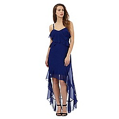 Lipsy - Dark blue ruffle trim dress