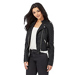 Lipsy - Ariana Grande for Lipsy black quilted biker jacket