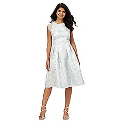 Laced In Love - Silver patterned dress
