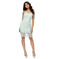 Laced In Love - Light turquoise 'Laced in Love' dress