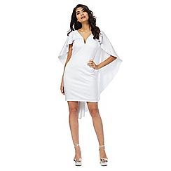 Laced In Love - White cape dress