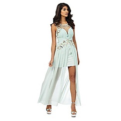 Laced In Love - Light turquoise sequinned dress