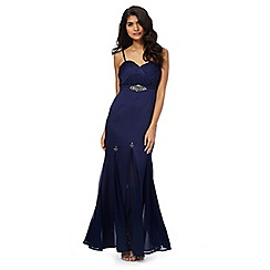Laced In Love - Navy crystal detailed dress