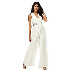 Laced In Love - White embellished jumpsuit