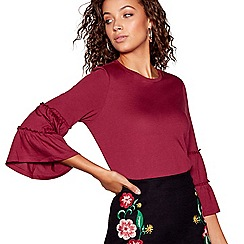 Red Herring - Maroon tier sleeves top