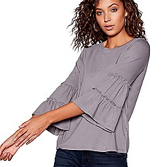 Red Herring - Grey tiered long sleeves top