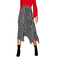 Red Herring - Black stripe wrap skirt