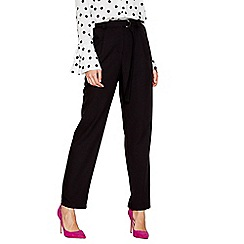 Red Herring - Black wide leg belted trousers