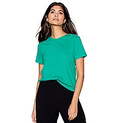 Red Herring - Green stud shoulder t-shirt