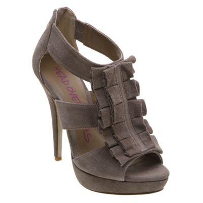 Fringe front platform court shoe