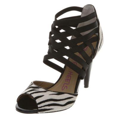 Animal print peeptoe sandal