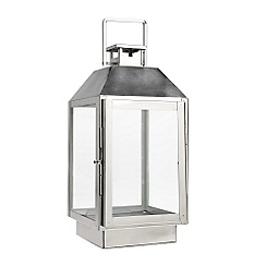 Home Collection - Small decorative silver lantern