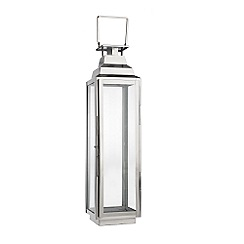 Home Collection - Medium decorative silver lantern