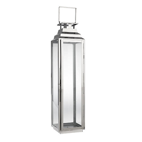 Home Collection - Tall decorative silver lantern
