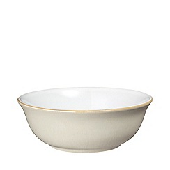 Denby - Cream and white 'Linen' cereal bowl
