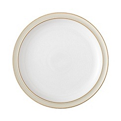 Denby - Cream and white 'Linen' dinner plate