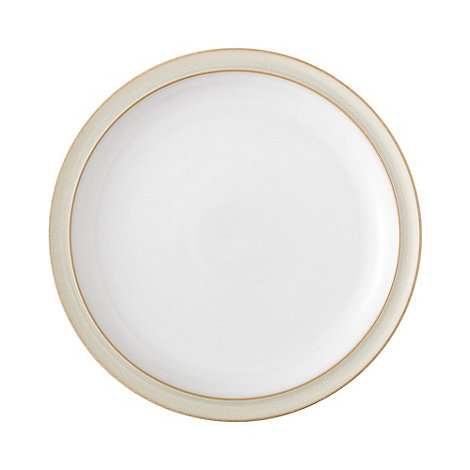Denby - Cream and white +Linen+ dinner plate